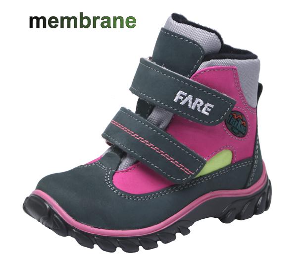 44e2dff5262 Dětské celoroční trekové boty s membránou - Fare - 827254